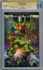 World War Hulk #1 Aspen Variant CGC 9.8 Signature Series Signed x3 Michael Turner